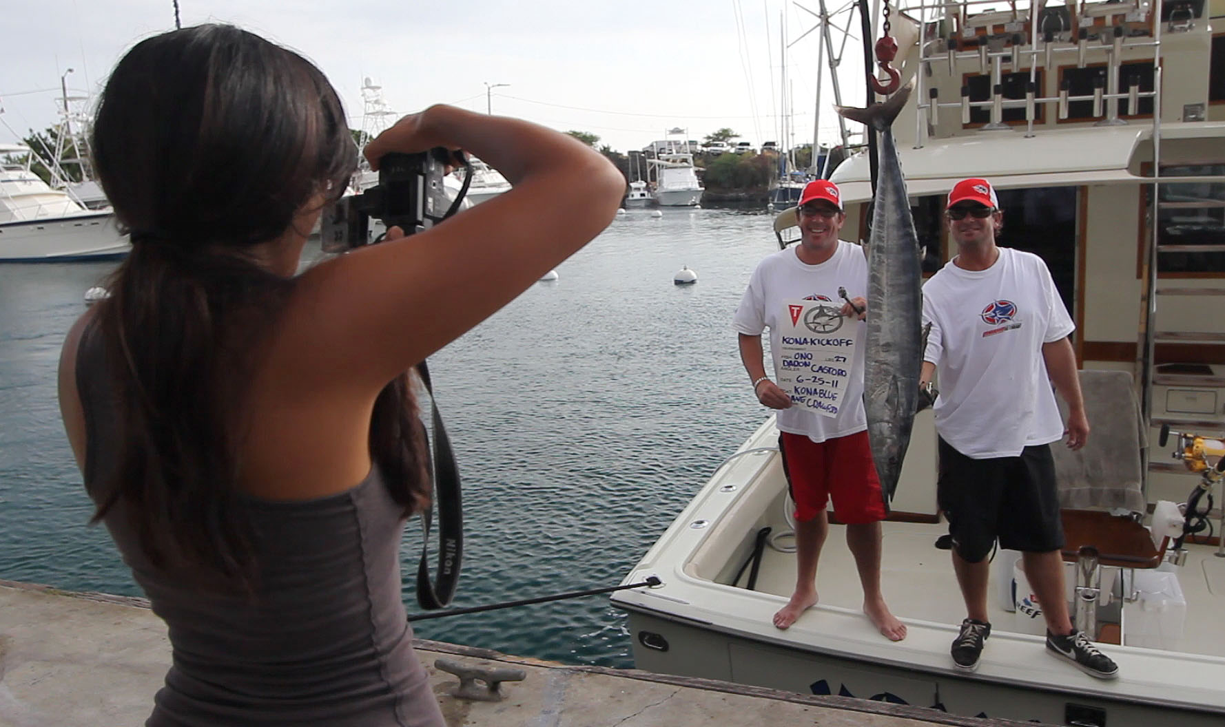 Angler Daron Castoro pulled in a 27 pound Ono on boat 'Kona Blue' skippered by Captain Dave Crawford Saturday (June 25).
