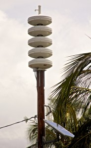 A Civil Defense siren in Puako. Hawaii 24/7 file photo