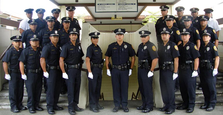 Members of the Hawai'i Police Department's 79th Recruit Class were recognized Friday (July 15) during ceremonies held at Nani Mau Gardens in Hilo.