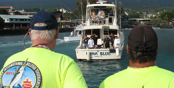 Points on the board Monday for 18 Pacific blue marlin, 1 striped marlin, 4 short-nose spearfish and 2 boated ahi