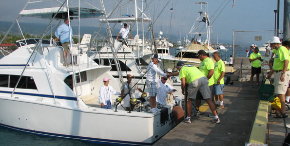Team from China makes debut, tags two Pacific blue marlin, sits in third place on the scoreboard