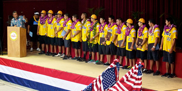 Treated to a parade, proclamation, honors, autograph session and a day at the Hawaii County Fair the Big Island's world championship baseball team had a pretty good Sunday.