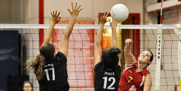 In a early girls BIIF volleyball match Wednesday (Aug 31) the St. Joseph Cardinals defeated the visiting Parker Bulls in straight sets. 25-10, 25-6, 25-10.
