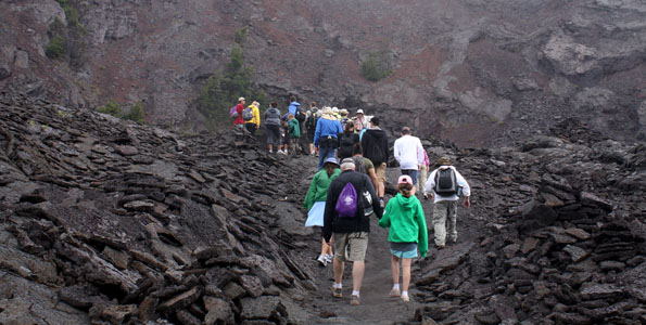 "On September 11, the non-profit Friends of Hawai'i Volcanoes National Park (FHVNP) presents its next ""Sunday Walk in the Park"" from 8:30 a.m. to 4:30 p.m. Led Nick Shema, this month's 8-hour, 14-mile round trip hike will explore the Napau Trail."