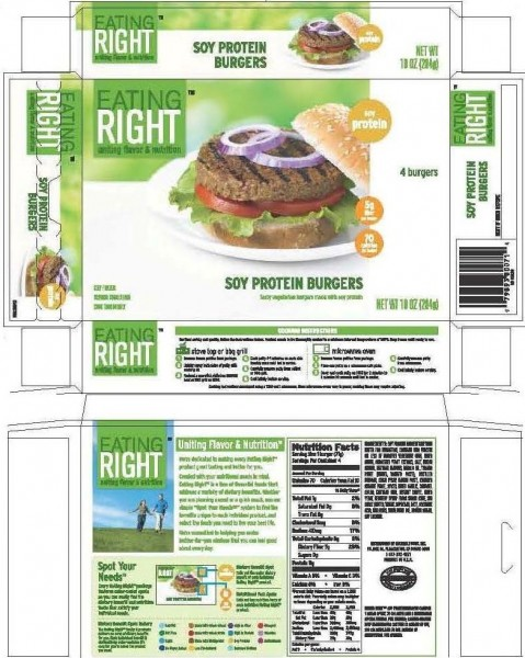 May inadvertently contain Eating Right™ Veggie Burgers, which contain milk