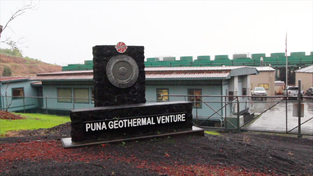 The Puna Geothermal Venture power plant in Kapoho suffered a possible lightning strike Tuesday (Nov 8) tripping the plant offline and causing some hydrogen sulfide gas to be vented.