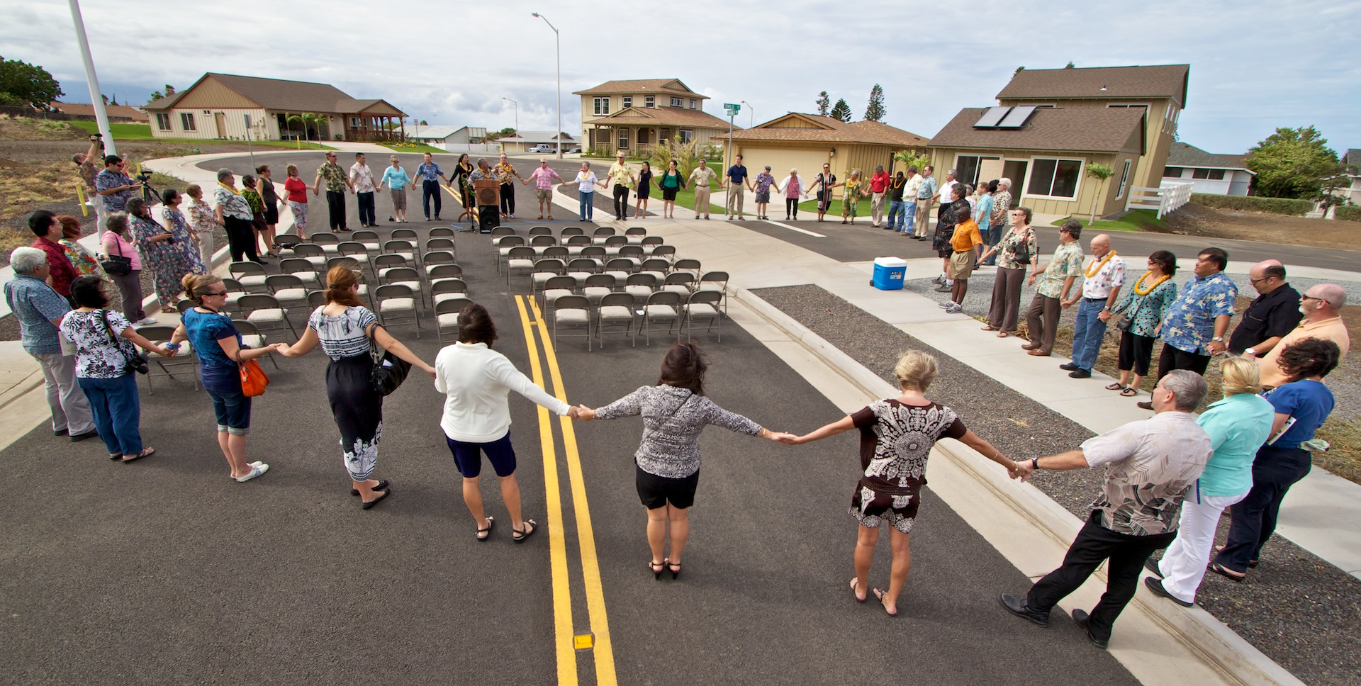 The 12-acre community park and affordable home models were blessed and open for the public to visit during ceremonies in Waikoloa.
