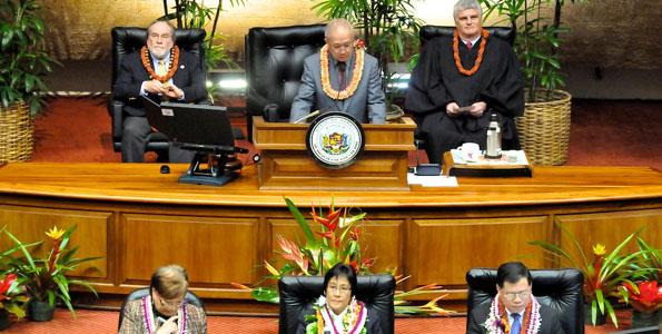 State lawmakers open second year of the Twenty-Sixth Legislative biennium in Honolulu