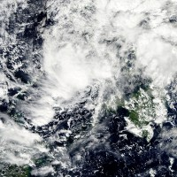 Satellite image of Typhoon Sendong over the Philippines