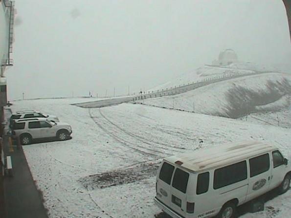 Mauna Kea summit courtesy of the W.M. Keck Observatory webcam