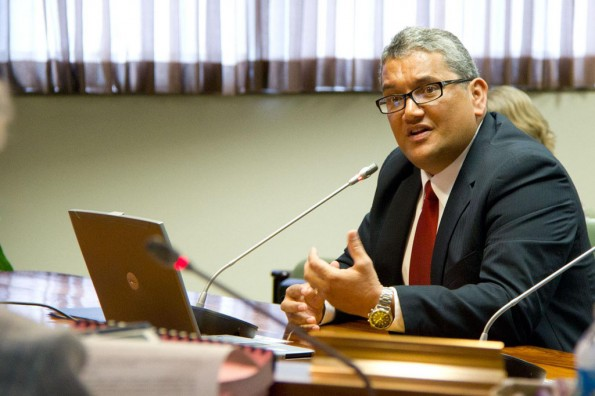 Mayor Billy Kenoi presented the 2012-2013 budget to the Hawaii County Council. Photo courtesy of the Office of the Mayor, County of Hawaii
