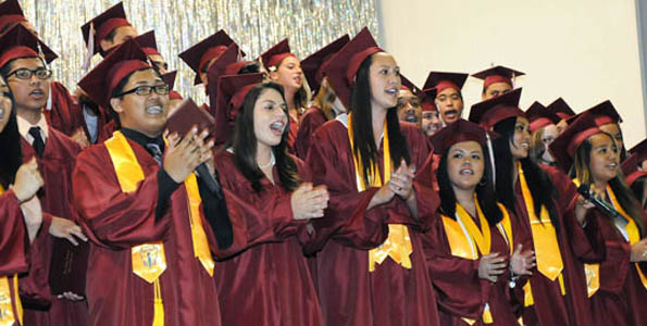 Ka'u High School celebrated its commencement Friday, May 19 in the Trojan Gymnasium