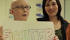 Lauren Selden holds up her 'Fighter' sign in the video. (Special to Hawaii 24/7)