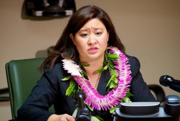 Hawaii County Clerk Jamae Kawauchi holds a press conference regarding the Primary Election. Photography by Baron Sekiya | Hawaii 24/7