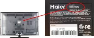 Haier 42-inch LED TV Model LE42B1380