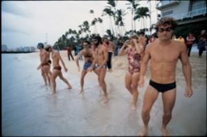 Ironman start 1979 on Oahu.  (Photo courtesy of Peter Reid Miller)