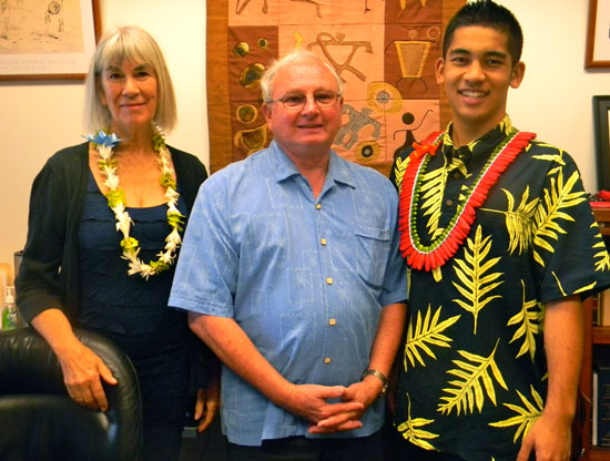 Nancy Redfeather, Rep. Denny Coffman and Trevor Tanaka. (Photo courtesy of Trevor Tanaka)