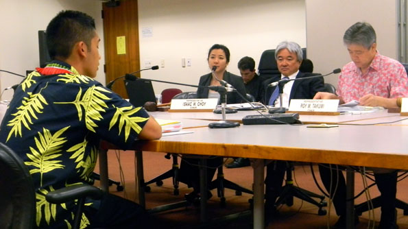 Trevor Tanaka testifies at the state Legislature. (Photo courtesy of Trevor Tanaka)