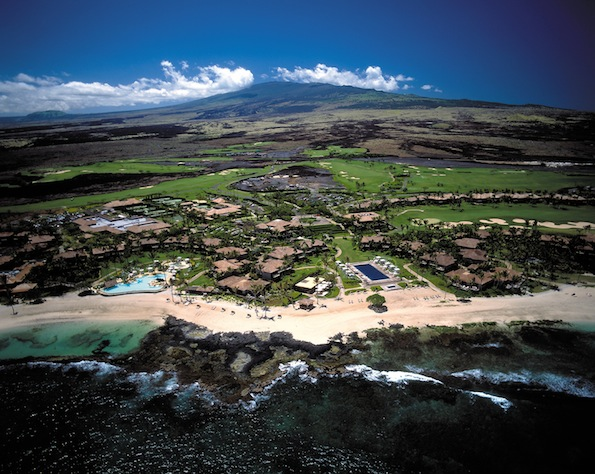 aerial view of Four Seasons Resort Hualalai. (Photo courtesy of Peter French)