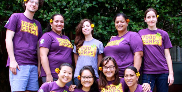 The FoodCorps crew. (Photo courtesy of The Kohala Center)
