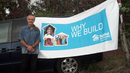 Jim Helfenbein is a veteran and Habitat for Humanity is helping him building his house in Ocean View. His completed house will be the 20th the West Hawaii affiliate has built. (Photo courtesy of Habitat for Humanity)