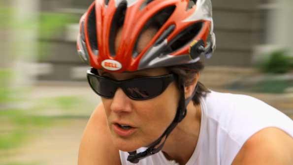 Jenn Sommermann marks the last of 50 triathlons in 50 states at Lavaman Keauhou 2013. (Photo courtesy of Jenn Sommermann)