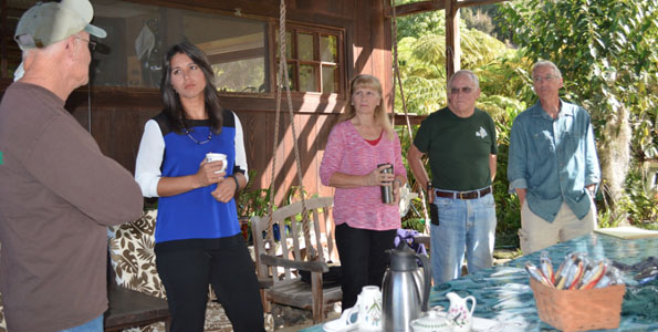 Rep. Tulsi Gabbard met Thursday with local coffee farm owners and members of the Kona Coffee Farmers Association to discuss efforts to combat the devastating Coffee Berry Borer pest that has attacked crops and other challenges faced by local farmers and small business owners. (Photo courtesy of Rep. Gabbard's Office)