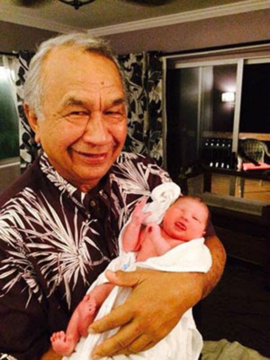 Sen. Gil Kahele and granddaugther Iolana Malaea Kahele. (Photo courtesy of Sen. Kahele's Office)