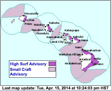 National Weather Service Advisories Map