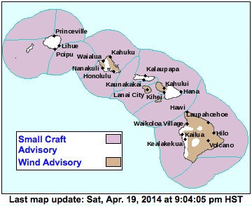 Map image via National Weather Service