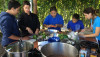 Waimea Middle School students learn how to prep vegetables for Chili with Chef Maria Peterson.