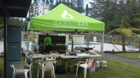 Hawaii Gas sets up a tent to prepare meals to residents affected by Tropical Storm Iselle.