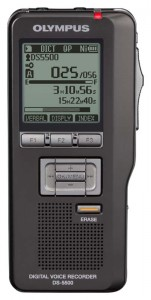 Olympus DS-5500 digital audio recorder - front view