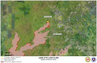 Kilauea June 27 Lava Flow map updated 7 a.m., January 27, 2015. Courtesy of Hawaii County Civil Defense