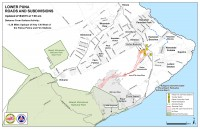 Kilauea June 27 Lava Flow map updated 7 a.m., February 18, 2015. Courtesy of Hawaii County Civil Defense