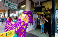 Big Island Shaolin Arts' lion dancers visited shops in downtown Hilo for good luck during the Chinese New Year's celebration. Photography by Baron Sekiya | Hawaii 24/7