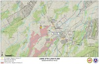 Kilauea June 27 Lava Flow map updated 7 a.m., February 27, 2015. Courtesy of Hawaii County Civil Defense