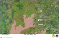 Kilauea June 27 Lava Flow map updated 7 a.m., March 13, 2015. Courtesy of Hawaii County Civil Defense