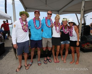 Overall winners of the 2015 Lavaman Triathlon in Waikoloa. Photography by David O. Baldwin | Special to Hawaii 24/7