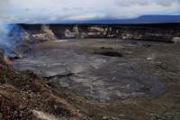 Photo of the overflowing lava lake taken from the rim of Halemaʻumaʻu. Photo taken Thursday, April 29, 2015 courtesy of USGS/HVO