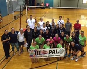 Girls in the HI-PAL volleyball league.