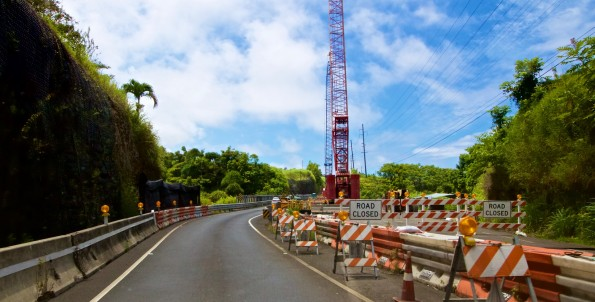 Umauma Bridge construction. July 12, 2015. Hawaii 24/7 File Photo