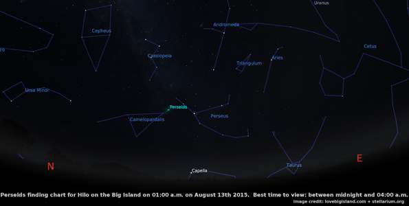 At its peak and under perfect viewing conditions, expect 60-100 shooting stars per hour