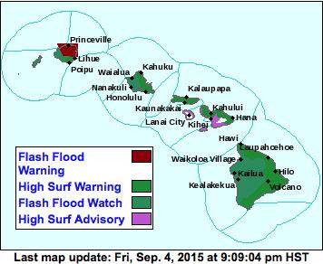 Weather advisory map via National Weather Service/NOAA