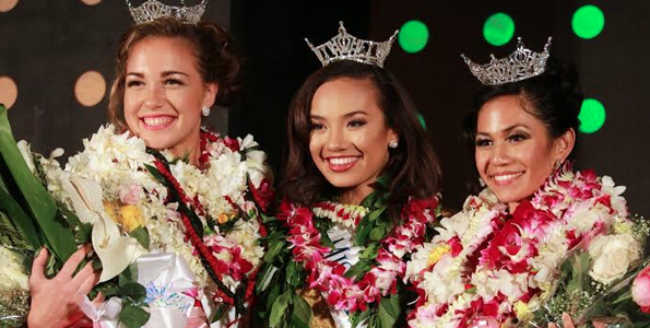 Kristie Naone crowned as Miss Aloha Hawaii 2016 at Kona Coffee Cultural Festival scholarship pageant