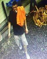 Surveillance image of man