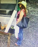 Surveillance image of woman