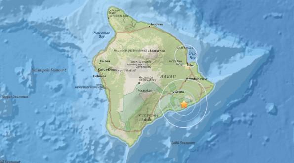 At 12:23 p.m. Wednesday (Dec 16) a weak quake shook Hawaii Island.
