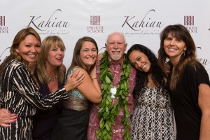 Parker School faculty with headmaster, Carl Sturges, at the school's annual financial aid fundraiser on March 5, 2016 known as Kahiau.