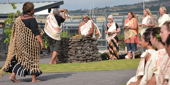Moku Ka Piko ceremony (Photo courtesy of UH)